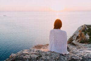 woman sunset hero image